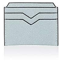 Valextra MEN'S CARD CASE-LT. BLUE