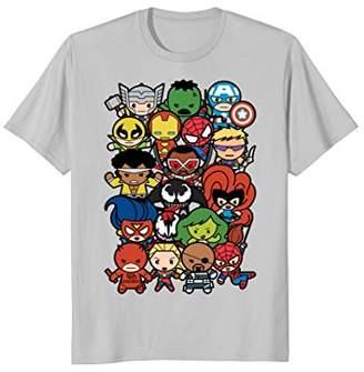 Marvel Heroes And Villains Team Kawaii Graphic T-Shirt