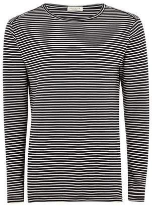 Topman Mens SELECTED HOMME Navy Stripe Organic Cotton Top
