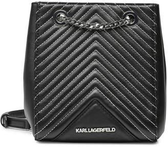 Karl Lagerfeld Paris Lagerfeld K/Klassik Quilted Leather Bucket Bag