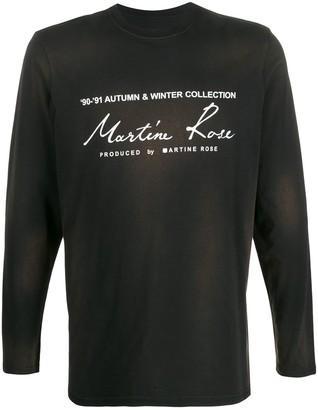 Martine Rose logo print jersey top