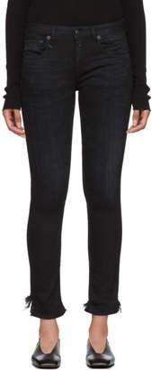 R 13 Black Clean Alison Skinny Jeans