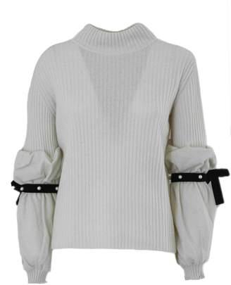 Philosophy di Lorenzo Serafini White Ribbed Knit Jumper.