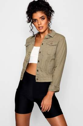 boohoo Fitted Denim Jacket