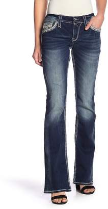 Rock Revival Light Distressed Boot Cut Jeans