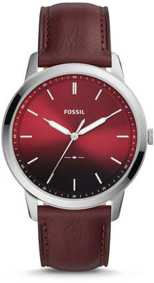 Fossil The Minimalist Three-Hand Oxblood Leather Watch