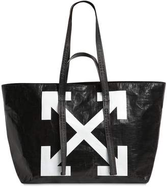 a453590cf Off-White Logo Printed Pvc Tote Bag