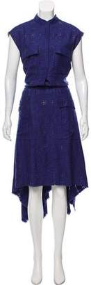 Maison Margiela Wool-Blend Midi Dress