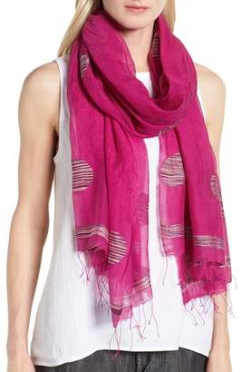Eileen Fisher Dot Organic Cotton Blend Scarf