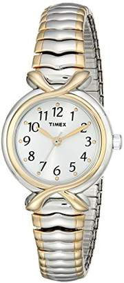 Timex Women's T21854 Elevated Classics Two-Tone Expansion-Band Watch $54.95 thestylecure.com