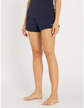 Tommy Hilfiger Logo-embroidered stretch-cotton pyjama shorts