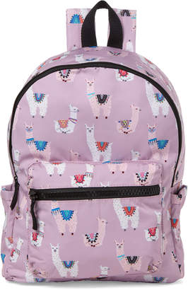 T-Shirt & Jeans T Shirt & Jeans Lilac Llama Nylon Backpack
