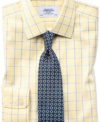 Charles Tyrwhitt Extra slim fit non-iron Prince of Wales yellow and royal blue shirt