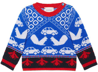 Baby squirrels and cars sweater $245 thestylecure.com
