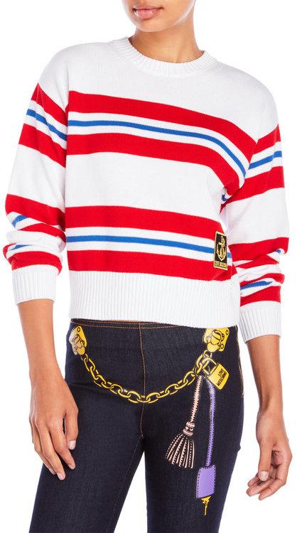 love moschino Striped Nautical Sweater