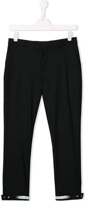 Neil Barrett Kids snap-button cuff trousers