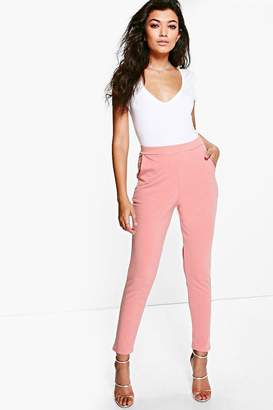 boohoo Scuba Super Stretch Skinny Trousers