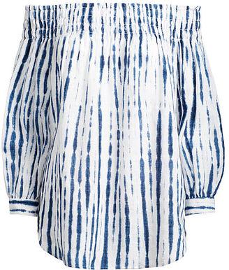 Polo Ralph Lauren Shibori Off-the-Shoulder Top $198 thestylecure.com