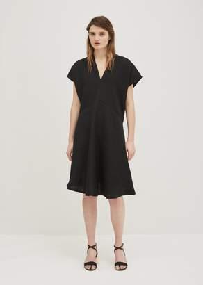 Acne Studios Jessa Raw Linen Dress Black