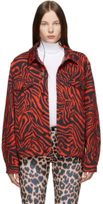 Calvin Klein Red Zebra Denim Jacket
