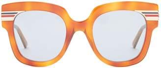 Web-striped cat-eye sunglasses