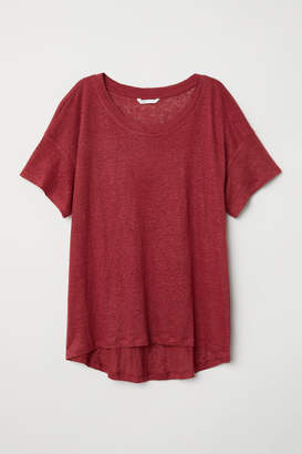 H&M Linen T-shirt - Red