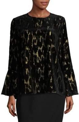 Calvin Klein Flock Bell-Sleeve Top