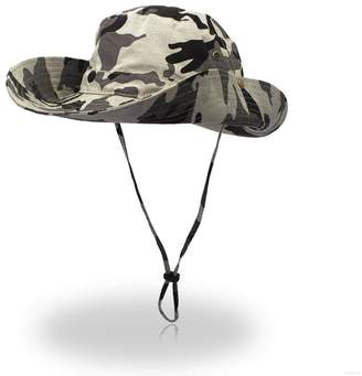 875b187fd3842 GADIEMENSS Camo Outdoor UPF 50+ Boonie Hats Summer Sun Cap Wide Brim  Fishing Hat
