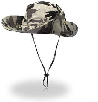 GADIEMENSS Camo Outdoor UPF 50+ Boonie Hats Summer Sun Cap Wide Brim  Fishing Hat 5f304adf18c7