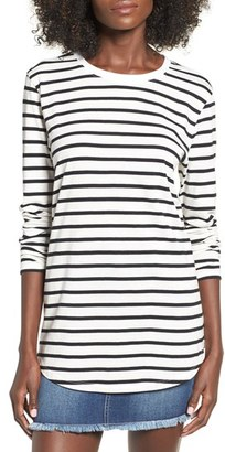 Women's Bp. Stripe Crewneck Tee $19 thestylecure.com