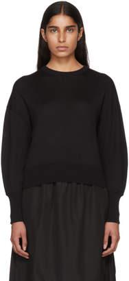 Enfold Black Volume Sleeve Sweater