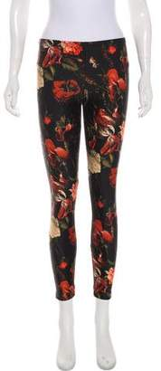 Givenchy Floral Print Mid-Rise Pants