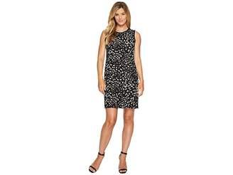 Vince Camuto Sleeveless Animal Whispers Shift Dress Women's Dress