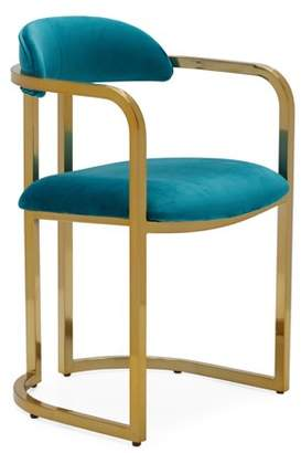 Marni MoDRN Glam Metal Base Dining Chair, Multiple Colors