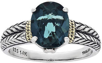 Couture FINE JEWELRY Shey Genuine London Blue Topaz Sterling Silver Oval Ring
