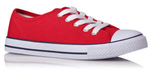 Canvas Lace Up Trainers