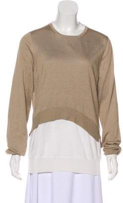 Celine Silk-Blend Layered Sweater