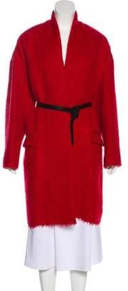 Isabel Marant Virgin Wool-Blend Long Sleeve Coat