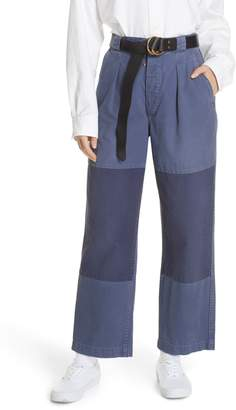 Polo Ralph Lauren Patched Wide Leg Pants
