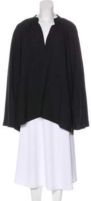 Helmut Lang Surplice Neck Bell Sleeve Tunic