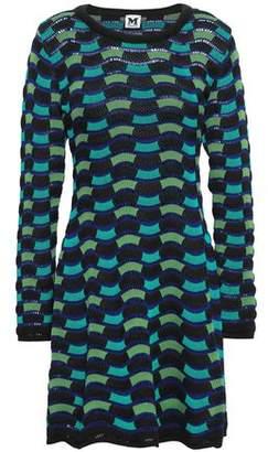 M Missoni Crochet-knit Cotton-blend Mini Dress