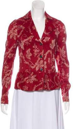 Dries Van Noten Floral Notch-Lapel Blazer