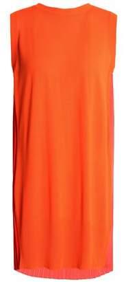 Maison Margiela Stretch-Knit And Pleated Crepe Mini Dress
