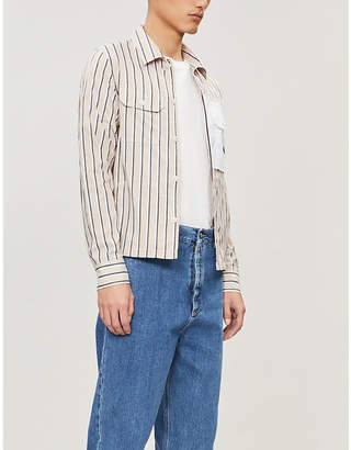 Maison Margiela Striped regular-fit cotton shirt