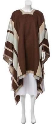 Chloé Wool Striped Poncho