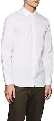 Joseph MEN'S JOHN COTTON POPLIN DRESS SHIRT - WHITE SIZE XXXL
