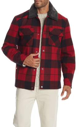 Pendleton Faux Shearling Collar Plaid Jacket