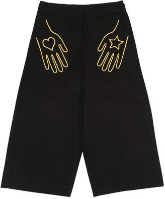 Hands Embroidered Cotton Pants
