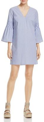 MICHAEL Michael Kors Stripe Bell Sleeve Dress - 100% Exclusive $165 thestylecure.com