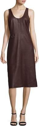 Veda Women's Ring Leather Knee-Length Dress